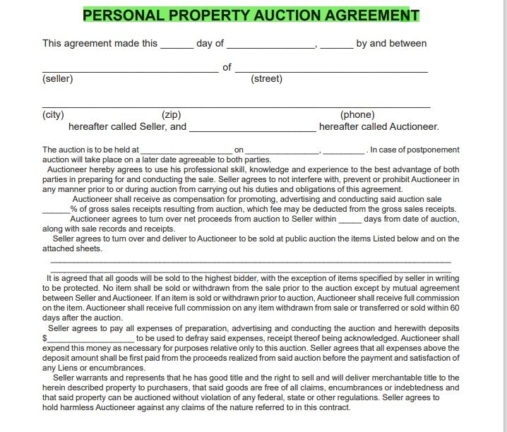 Property Contract Template 10