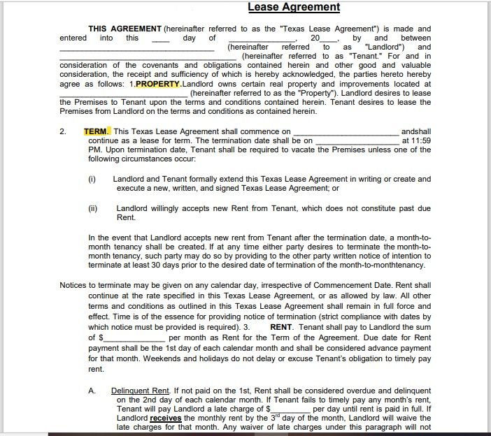 Property Contract Template 14