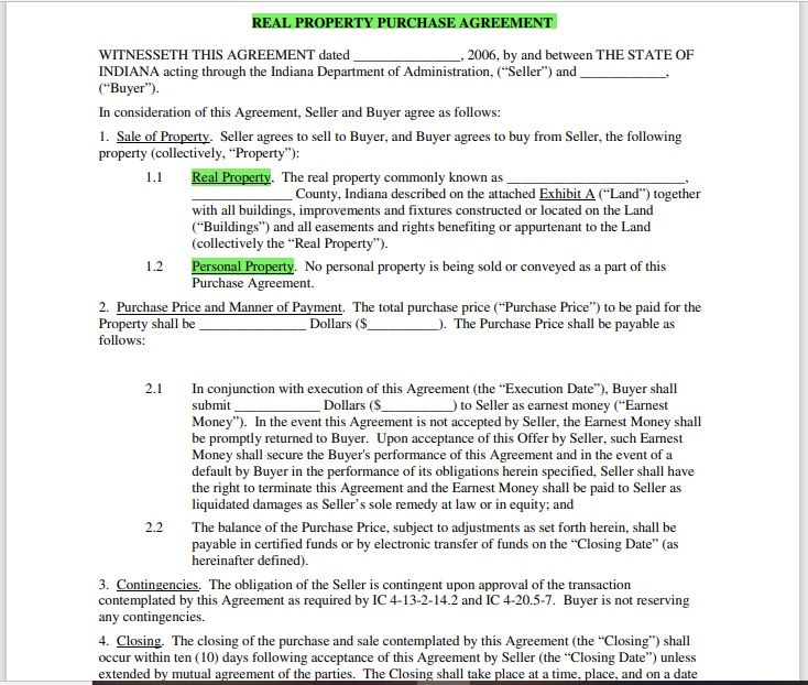 Property Contract Template 18