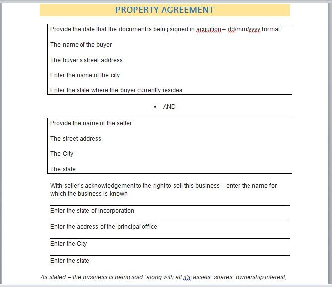 Property Contract Template 22