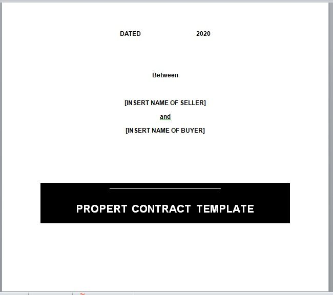 Property Contract Template 23