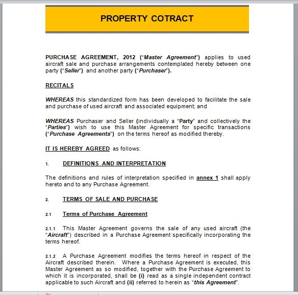 Property Contract Template 25