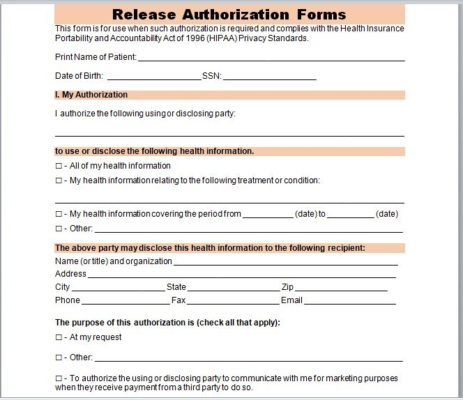 Release Authorization Form 02