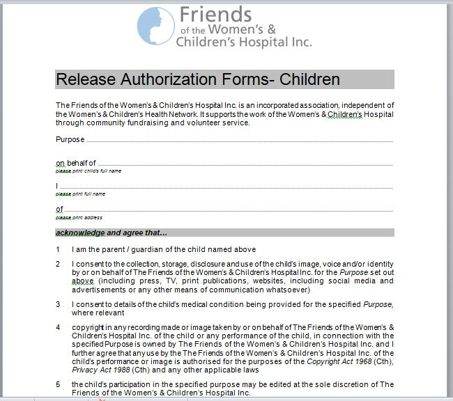 Release Authorization Form 13