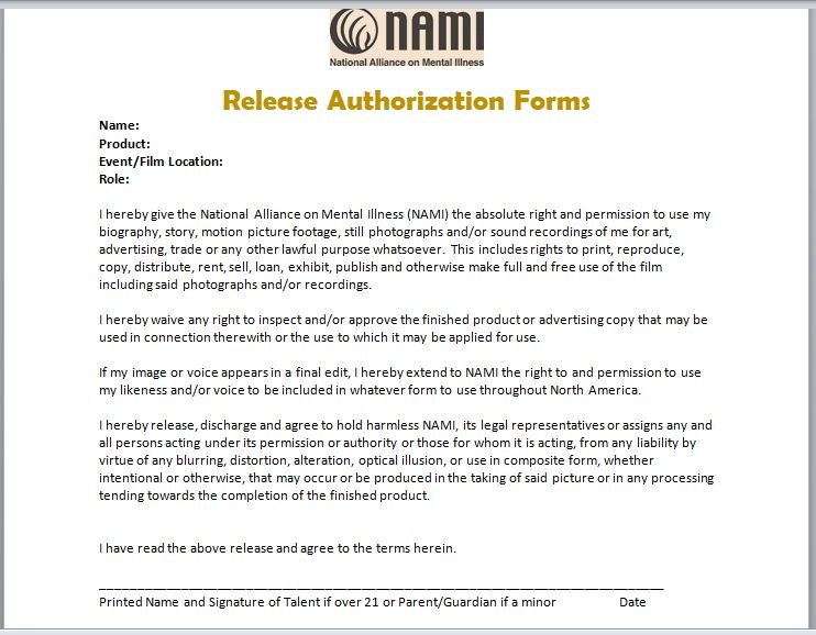 Release Authorization Form 14