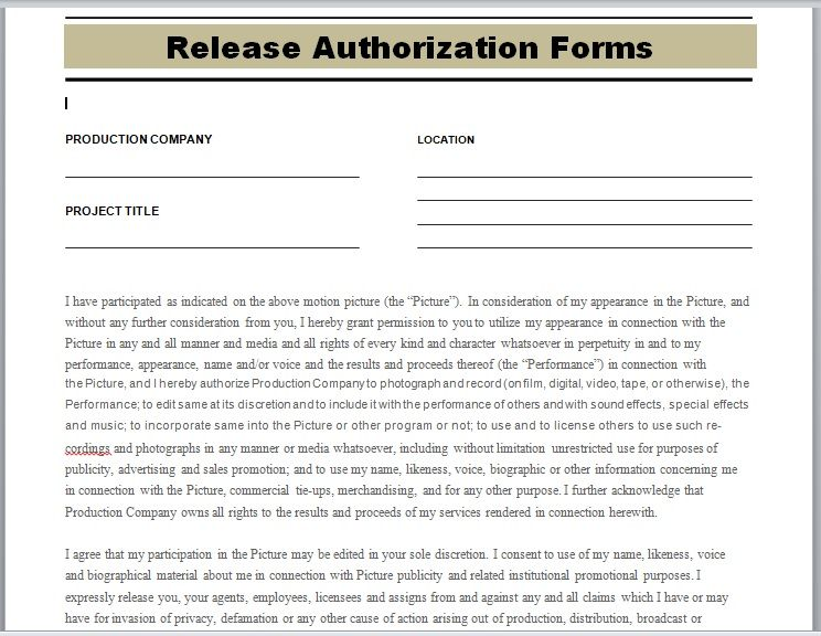 Release Authorization Form 23