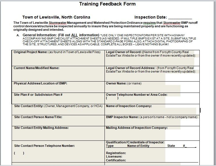 Training Feedback Form 07