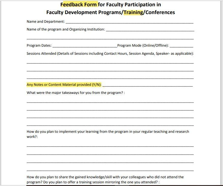 Training Feedback Form 12
