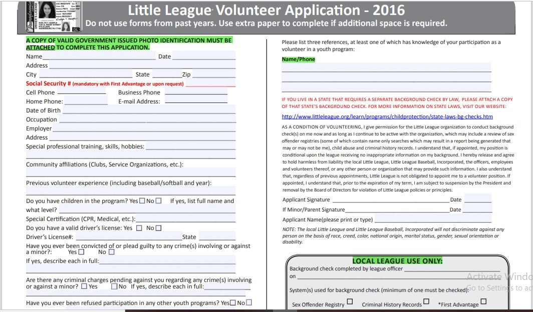 Volunteer Registration Form 06