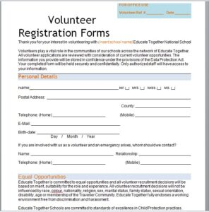Volunteer Registration Form 09