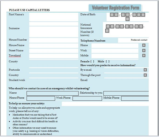 Volunteer Registration Form 16