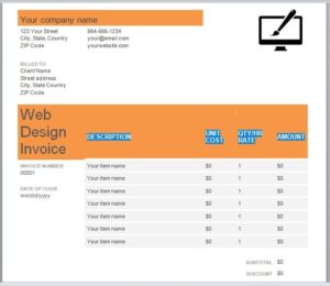 Web Design Invoice Template 03