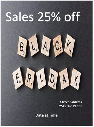 black friday sales flyer template 01