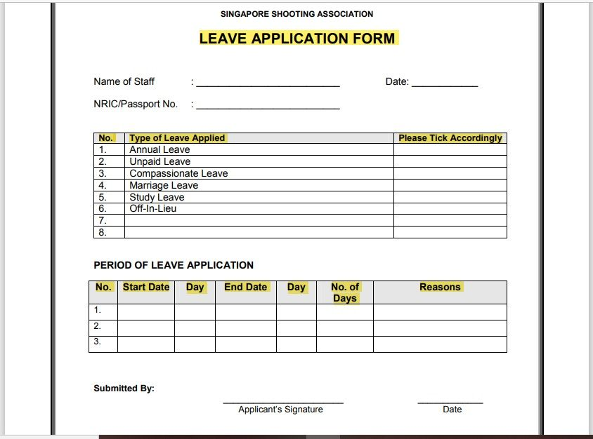 leave application form template 01