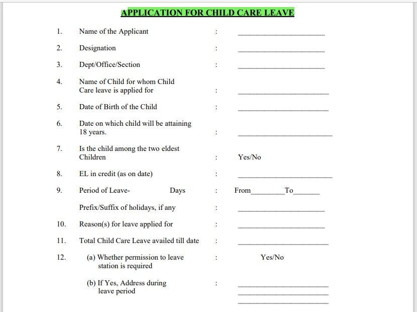 leave application form template 02