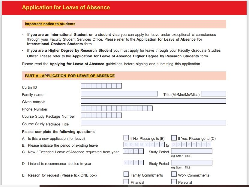 leave application form template 03