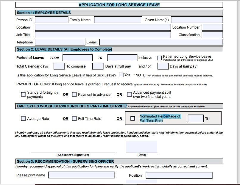 leave application form template 05