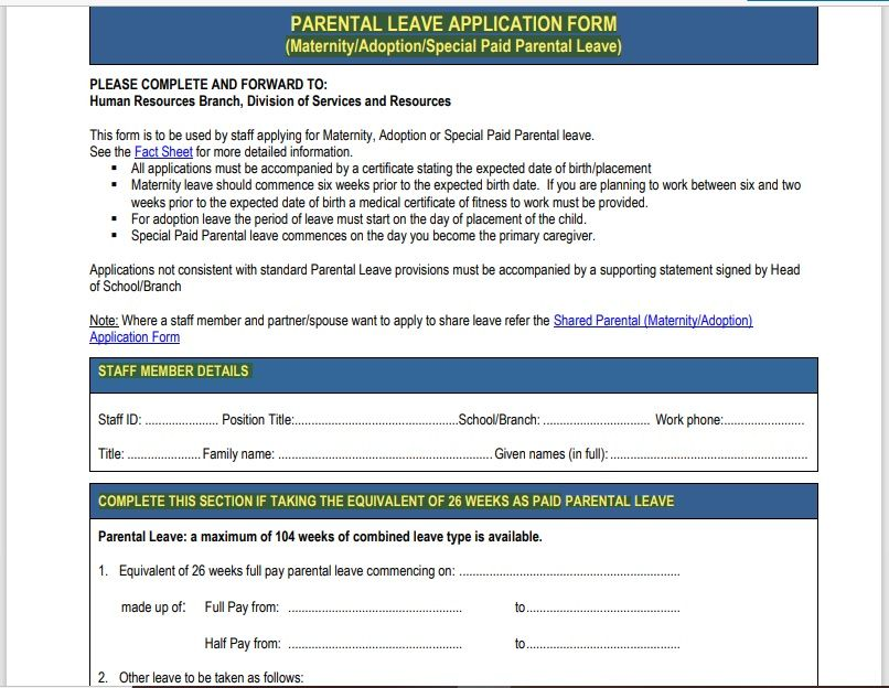 leave application form template 06