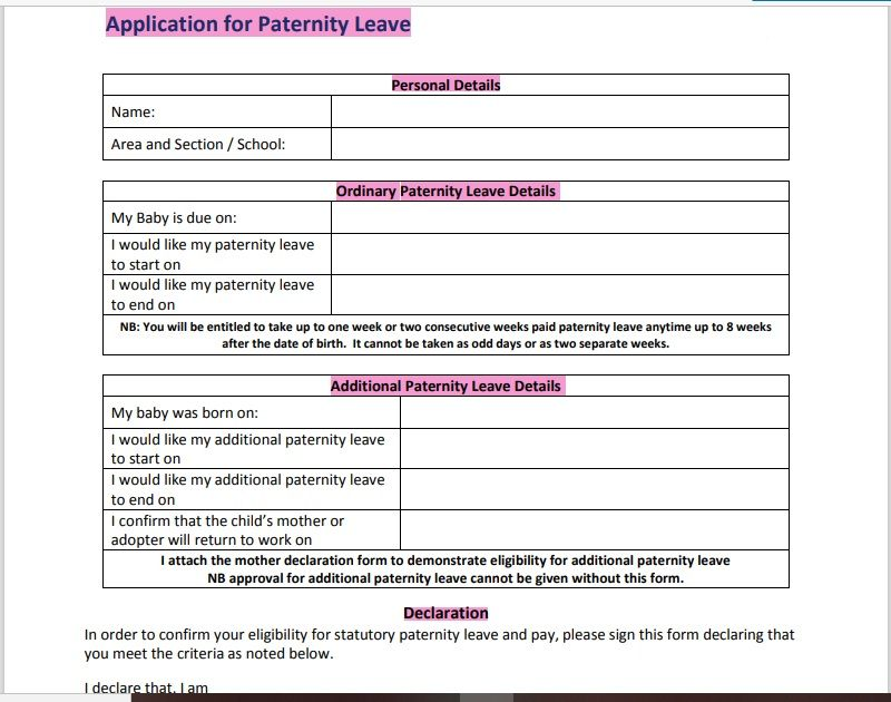 leave application form template 07
