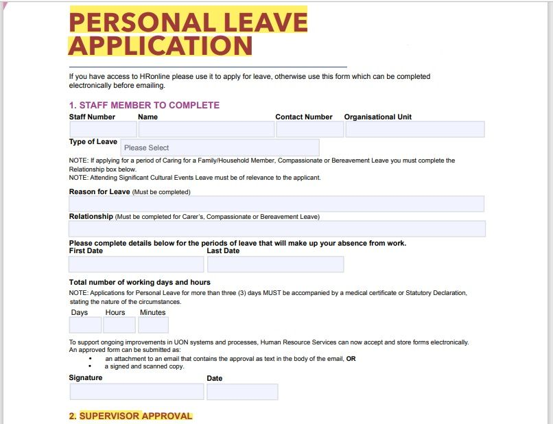 leave application form template 08