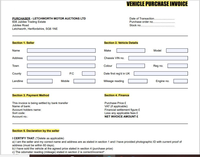 vehicle invoice template 17