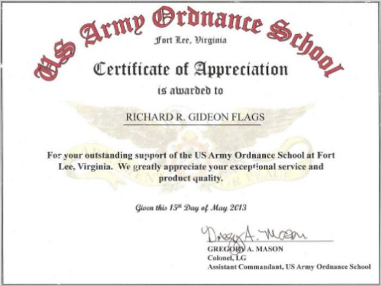 Army Certificate Template 04