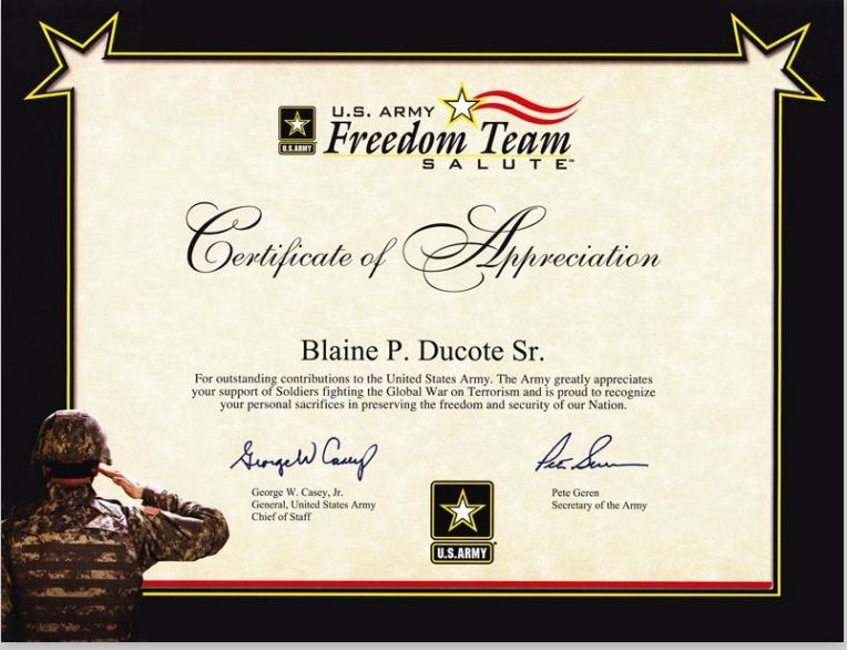 Army Certificate Template 05