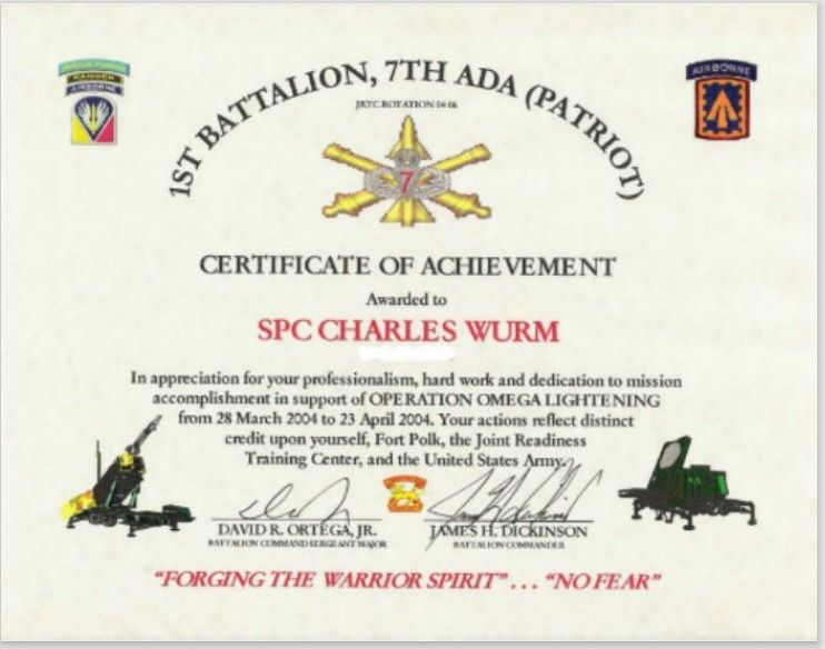 Army Certificate Template 06