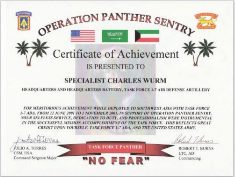 Army Certificate Template 07