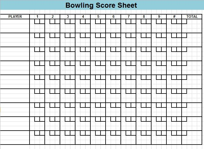 Bowling Score Sheet Template 16