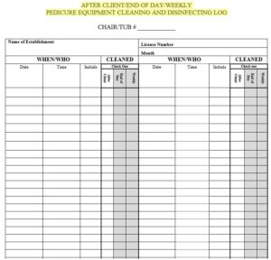Cleaning Log Sheet Template 06