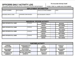 Daily Activity Log Template 14