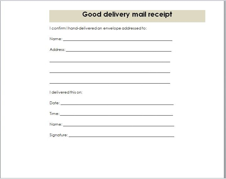 Goods Delivery Receipt Template 07