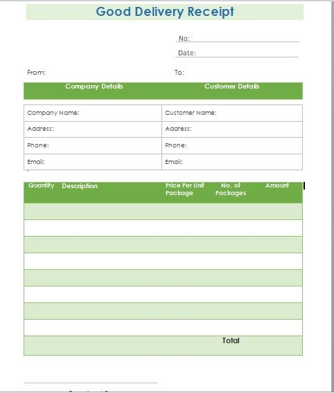 Goods Delivery Receipt Template 15
