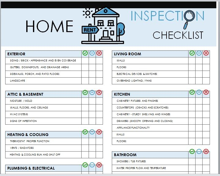 Home Inspection Checklist Template 10