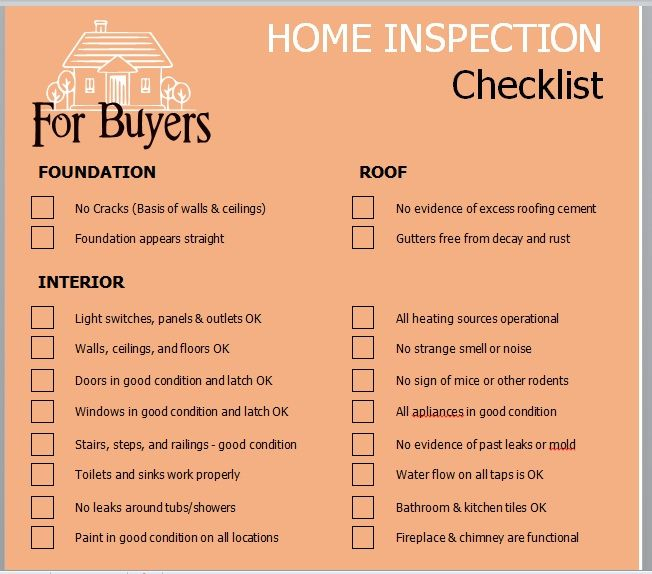Home Inspection Checklist Template 11