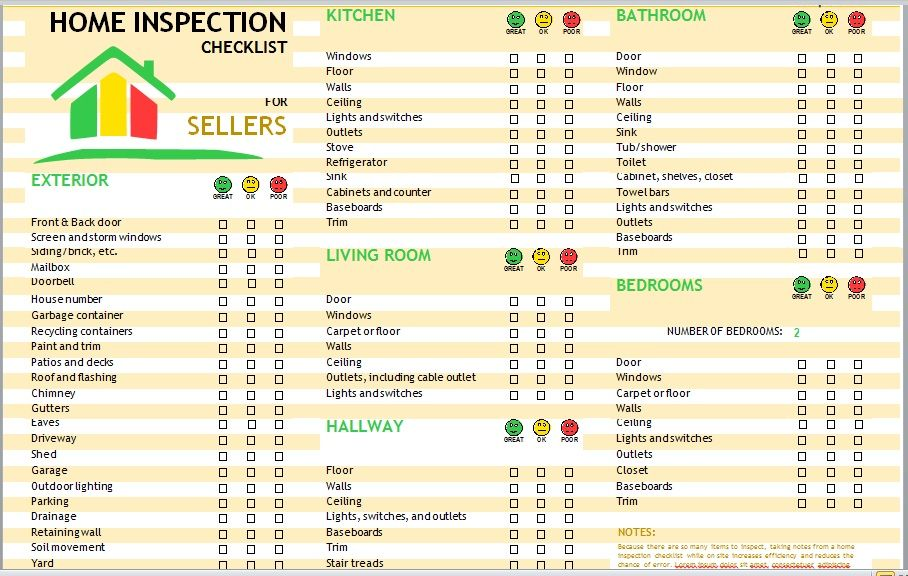Home Inspection Checklist Template 12