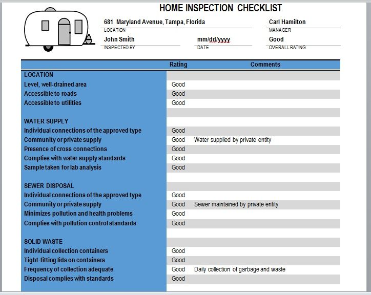 Home Inspection Checklist Template 16