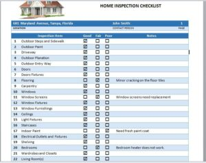 Home Inspection Checklist Template 17