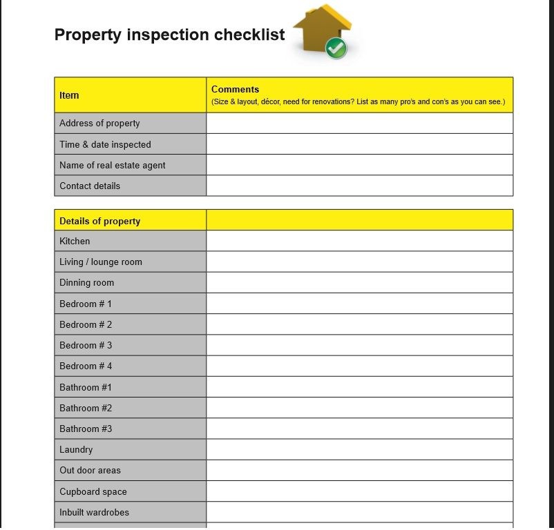 Home Inspection Checklist Template 23