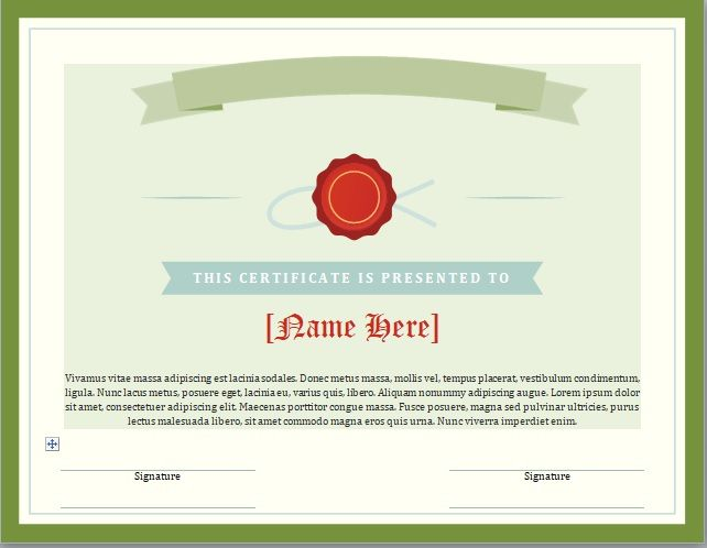 Honor Roll Certificate Template 13