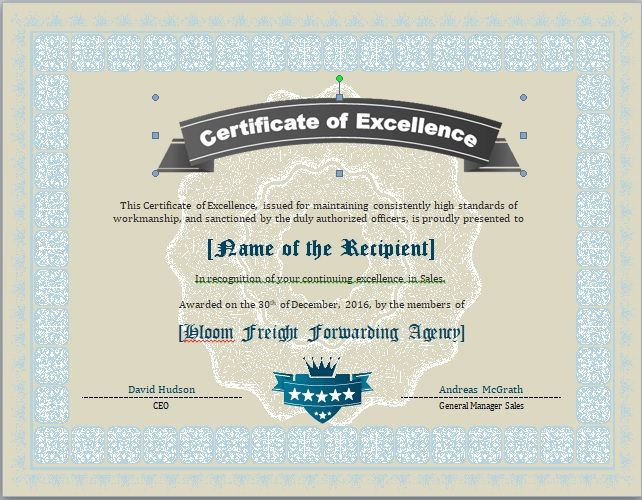 Honor Roll Certificate Template 16