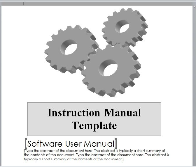 Instruction Manual Template 01