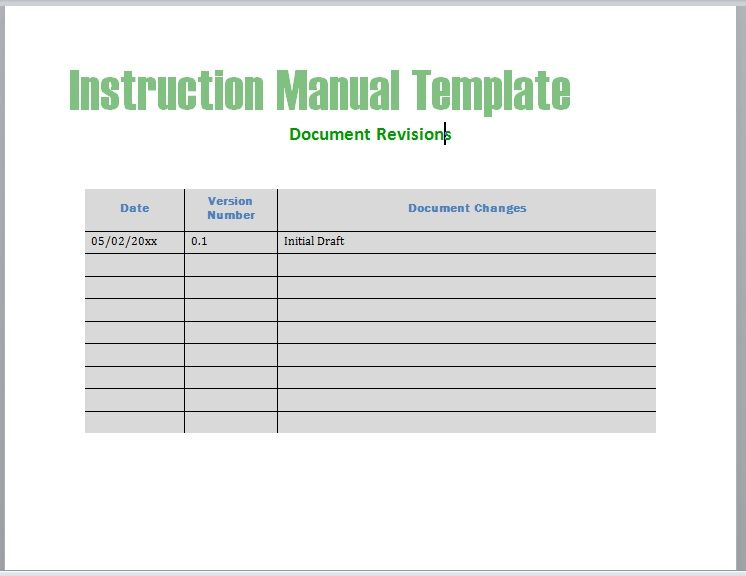 Instruction Manual Template 02