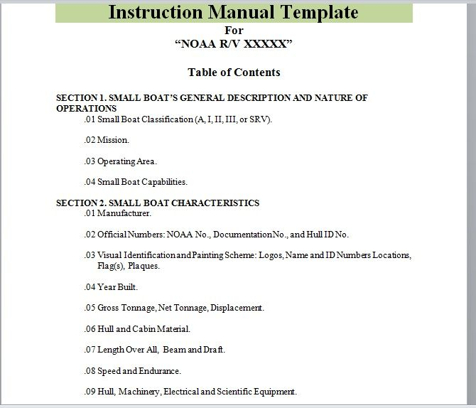 Instruction Manual Template 03