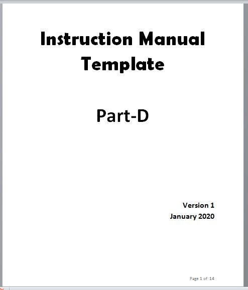 Instruction Manual Template 06
