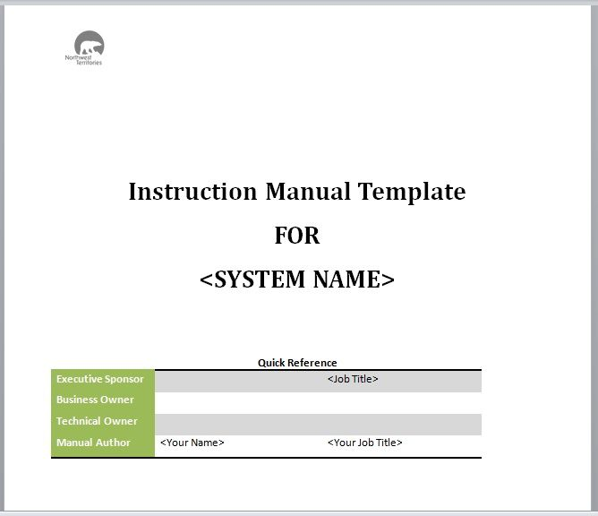 Instruction Manual Template 07