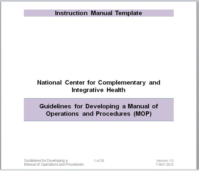 Instruction Manual Template 10