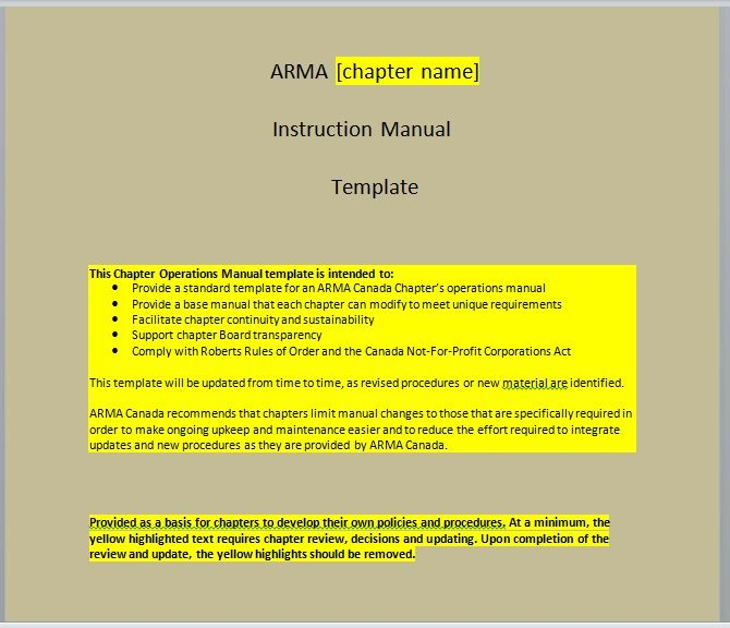 Instruction Manual Template 13