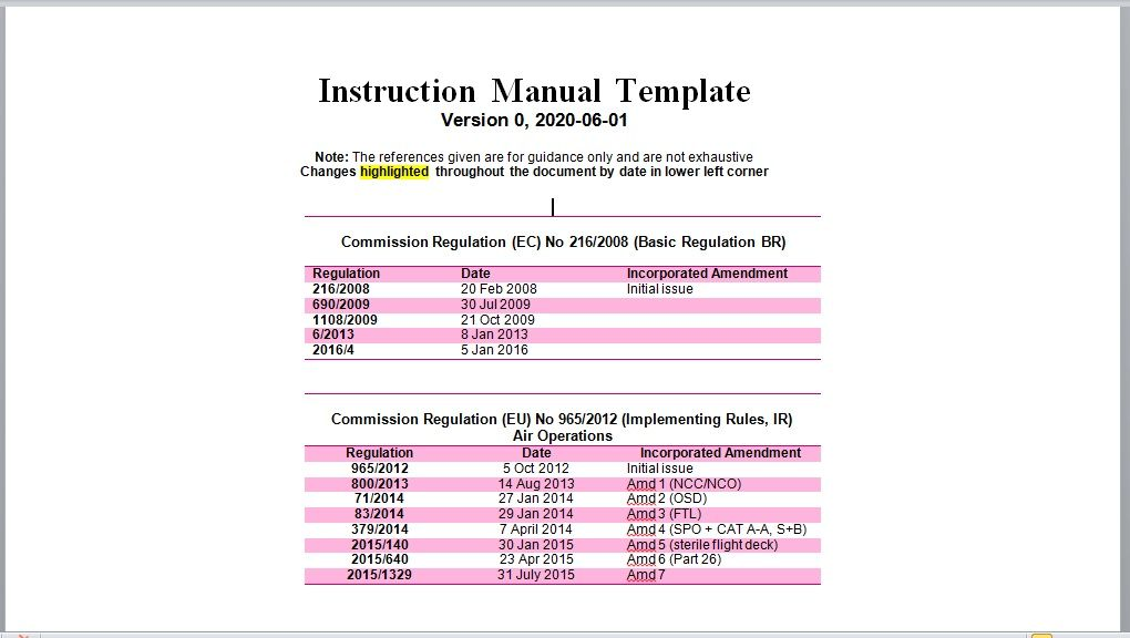 Instruction Manual Template 14